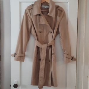 Womens Petite classic trench coat